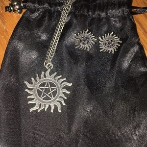 Supernatural Anti Possession Earrings & Necklace!